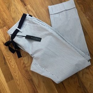 Willi Smith Pinstriped High Waisted Pants